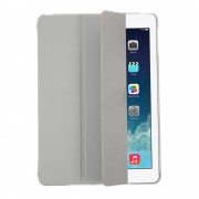 Grey for iPad Air 5 Tri-folding Smart Leather Flip + PC Back Cover