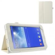 Δερμάτινη Θήκη Βιβλίο με Βάση Στήριξης για Samsung Galaxy Tab 3 7.0 Lite T110 T111 - Λευκό