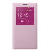 S View Window Smart PU Leather Battery Housing for Samsung Galaxy Note 3 N9005 - Pink