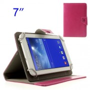 Rose Crazy Horse Stand Leather Tablet Case for Samsung Tab T110 P3210 P6200/ Lenovo S5000 Etc. Size: 12.5 x 19.5cm