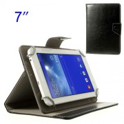 Black Universal Crazy Horse Leather Case Stand for Samsung Tab T110 T111 P3210 /Amazon Kindle Fire Etc. Size: 12.5 x 19.5cm
