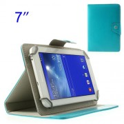 Baby Blue Crazy Horse Tablet Leather Case for Samsung Tab T110 P3210 P6210/ Lenovo S5000 Etc. Size: 12.5 x 19.5cm