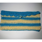 Summer Crochet Case for iPhone Plus / Galaxy Note 2 / 3 / 4 - Yellow/Blue