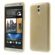 Champagne Glossy Outer Brushed Inner TPU Shell for HTC Desire 610