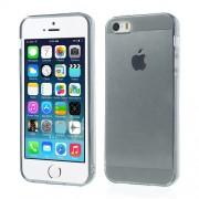 Γυαλιστερή Θήκη Σιλικόνης TPU για iPhone 5 5s Ημιδιάφανη - Γκρι